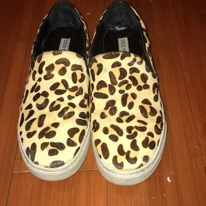 Steven Madden Leopard Print calf hair sneakers